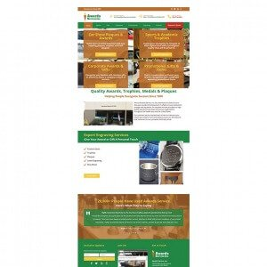 Awards Service - Homepage Design